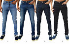 Mens Designer Zico & AD Jeans Super Stretch Skinny Slim Fit Fashion Retro Denim