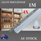4X1M Alloy channel 5630 LED Strip Light Cool Warm White Cabinet Kitchen Bathroom