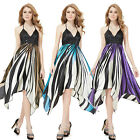 Womens Sexy Halter High Low Evening Cocktail Party Dresess Gown 09046 Size 8-18
