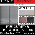 From 99p Vertical blinds SLATS LOURVES - WINDRUSH white cream peach brown black
