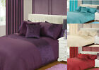 New Luxury Crushed Pleated Bedding Set Duvet Quilt Cover Purple,Cream,Burgundy
