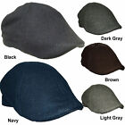 Men's Wool Hats Ascot Cap Duckbill Ivy KBW-215 Cabbie Newsboy Hat Solid Colors