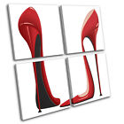 Killer Heels Fashion MULTI CANVAS WALL ART Picture Print VA