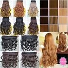 120g 24'' new 3/4 full head clip in hair extensions fraction price ken paves uk