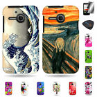 For Alcatel One Touch Evolve - Premium Multicolor Design Cover Cases