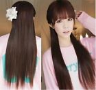 5Colors Fashion Ladies One piece long Straight five Clips hair extension clip-on