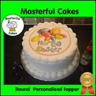 Easter Design Icing or Wafer paper Toppers for Cakes VARIOUS SIZES AVAILABLE
