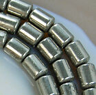 4x6mm Natural Pyrite Column Beads 15.5""