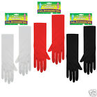 Gloves 1920s Evening Elbow Length 40cm One Size Black Red White Fancy Dress