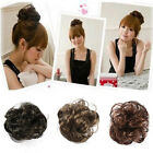 Women Pony Tail Fake Hair Extension Bride Hairpiece Scrunchie Wavy Hair 4 Colors