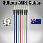 3.5mm Aux Flat Cable/Cord/Lead/Jack Stereo Audio Input Male to Male Auxiliary 1M
