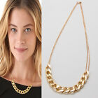 Golden Plated Chunky ID Chain Link Necklace Women Chain Choker Pendant Bracelet