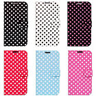 Polka Dots Flip PU Wallet Case Cover Protection for Galaxy S4 i9500
