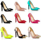 WOMENS LADIES HIGH HEEL POINTED CORSET STYLE WORK PUMPS COURT SHOES TYA302 UK2-9