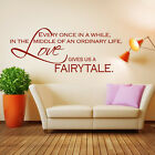 Love Gives Us A Fairy Tale Wall Sticker Love Quote Wall Decal Art