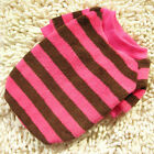 Cute Stripes Cat Puppy Apparel Clothes Dog Sweater Pullover Fleece Coat Hoodie