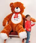180 120 CM GIANT LARGE BIG HUGE TEDDY BEAR WITH EMBROIDERY COLOURS GREAT GIFT!!