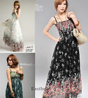 Sexy Women's Summer Maxi Floral Dress Casual Long Chiffon Sundress Beach Dress