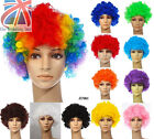 12 Colour Curly Afro Fancy Dress Funky Wig Disco Clown Mens Ladies Costume JF001