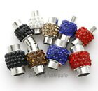 5 Sets Crystal Rhinestone Magnet Crod End Caps Clasps Connectors Findings
