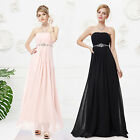 Elegant Pink Long Chiffon Evening Bridesmaid Party Dress Formal Prom Gown 08125