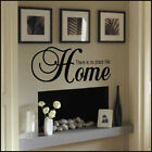 LARGE QUOTE THERE IS NO PLACE LIKE HOME WALL STICKER NEW ART UK TRANSFER DECOR
