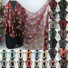 Fashion Women's Owl Branch Viscose Long Scarf/ Infinity Loop Cowl Eternity Scarf