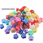 NEW Mixed Colour Polymer Fimo Clay Flower Beads - 17MM - JEWELLERY FINDINGS