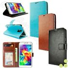 Luxury Leather Wallet Stand Case Cover for Verizon Samsung Galaxy S5 SM-G900V