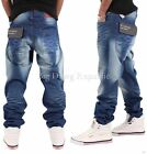 """ROCAWEAR """"PUMP"""" MENS BOYS LOOSE TAPERED FIT JEANS HIP HOP MONEY IS TIME NAPPY"""