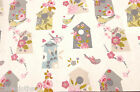 BIRD HOUSE WIPE CLEAN OILCLOTH COVER PVC TABLE CLOTH CO click for sizes