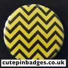 "Twin Peaks Badge (25mm/1"") Pin Button Black Lodge Floor White Lodge Red Room"