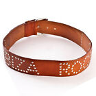 OFFICIAL Ibiza Rocks: Studded Leather Belt in Black, Brown or White RRP £55.00