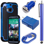 Heavy Duty Impact Rugged Hard Case Cover for HTC ONE M8 2014