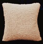 fc02a Pale Nude Pink Faux Sheep Skin Style Curly Fleece Material Cushion Cover