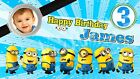 banner dos minions - Despicable Me Minions Birthday Banner Personalized Custom Design Indoor Outdoor