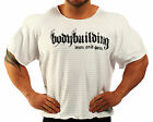 WHITE HARDCORE WORKOUT TOP BODYBUILDING CLOTHING L-143