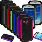 Hybrid Rugged Impact Rubber Hard Case Cover For Samsung Galaxy S3 III Mini i819