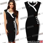 New Ladies Bodycon Business Offices V-neck OL Cocktail Pencil Dresses Size 81024