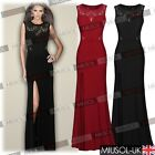 Womens Lace Long Evening Wedding Cut Out Bodycon Cocktail Party Dresses Size6810