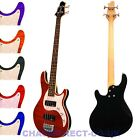 Guvnor GB500 Electric Bass Guitar Flamed Maple Top Soapbar Pickups Maple Neck