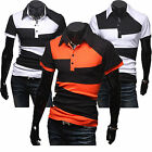 Mens Slim Fit Solid Golf Button Basic Tee Short Sleeve Tops POLO Collar T-shirt