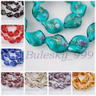 10pcs Flowers Handmade Charms 20mm Twist Helix Lampwrok Glass Loose Spacer Beads