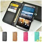 Luxury Leather Flip Card Wallet Stand Case Cover Skin For HTC ONE M8 / M9