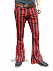 FLARES Red Black Striped Stripe mens bell bottoms hippie vtg indie trousers 60's