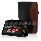 """Fintie Slim Leather Folio Stand Cover Case For Amazon Kindle Fire HD 8.9"""" 2012"""