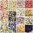 1 Litre Biodegradable Natural Delphinium Petals Throwing Confetti Organza Bag