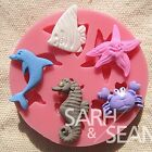 Cute Fish silicone mold for fimo resin polymer clay fondant cake chocolate 085