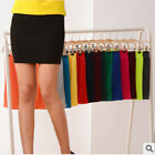 Fashion Womens Candy Color Bodycon Pencil Stretch Skirt Office Pencil Mini Skirt