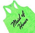 Maid Of Honor Tank Top For Bridal Party Workout Cute Gift For Maid Of Honor